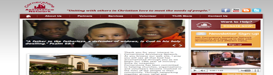 Cornerstone Assistance Network Website